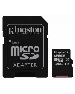 Флеш карта microSDXC 128Gb Class10 Kingston SDC10G2/128GB + adapter